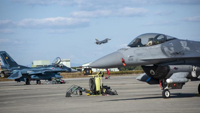 USAF F-16s from Misawa