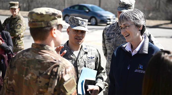 SECAF visits Offutt